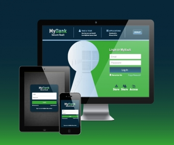 MyBank Vault Interface Design