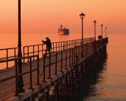 Quiet sunrise in Cyprus