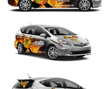 Toyota Prius application for Golden Phoenix energy drinks