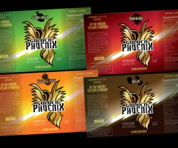Energy shot bottles [flat] – Golden Phoenix